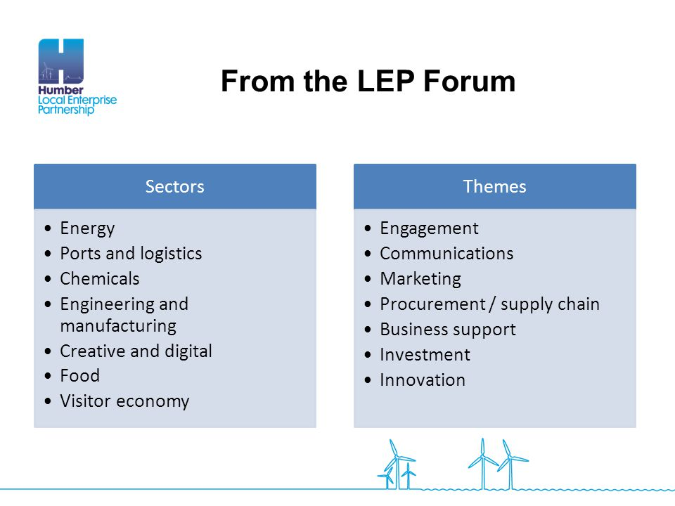 From the LEP Forum Slides from the forum Sectors Energy