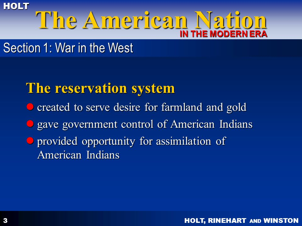 The reservation system