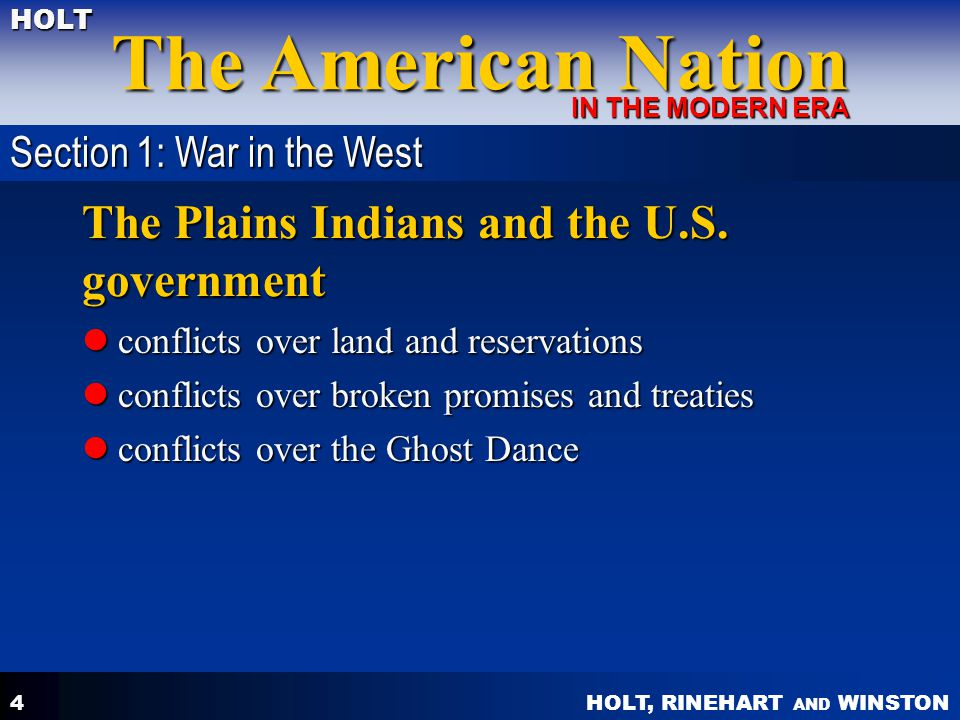 The Plains Indians and the U.S. government