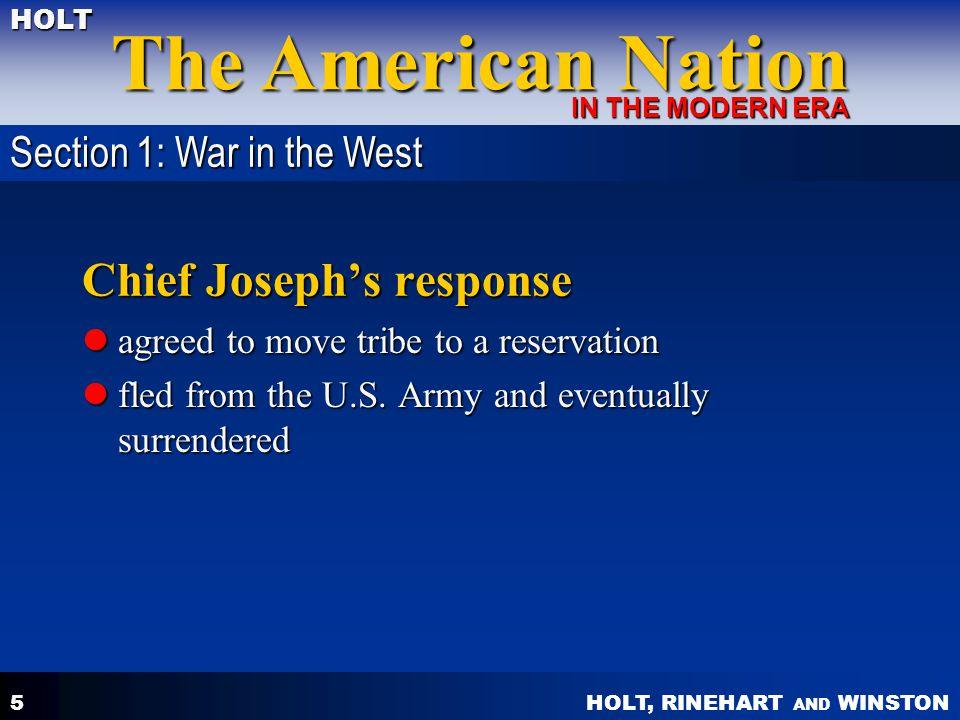 Chief Joseph's response