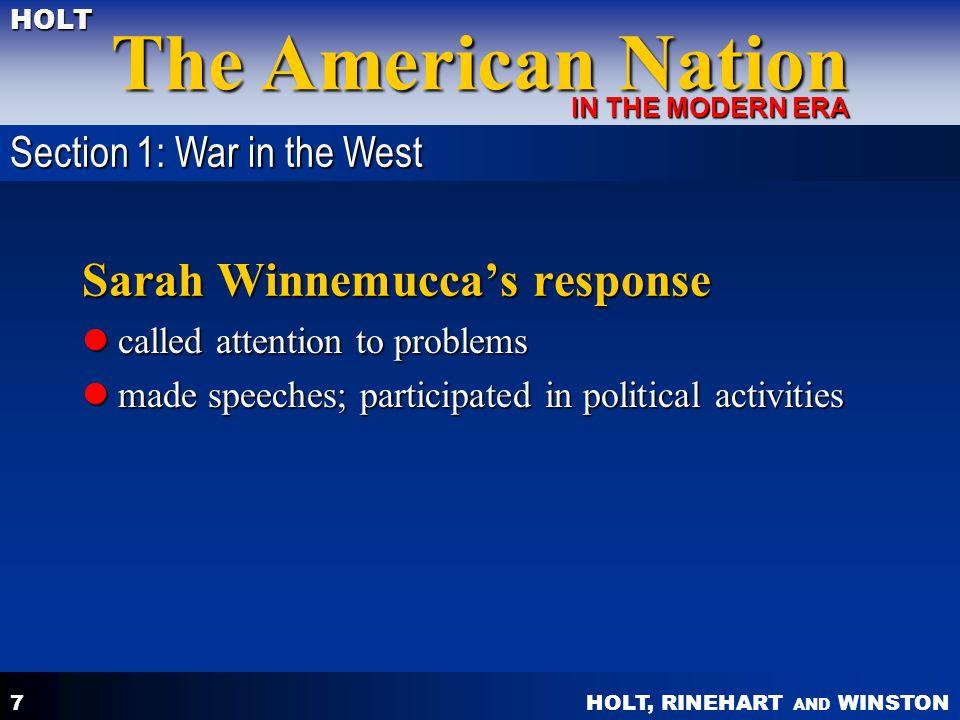 Sarah Winnemucca's response