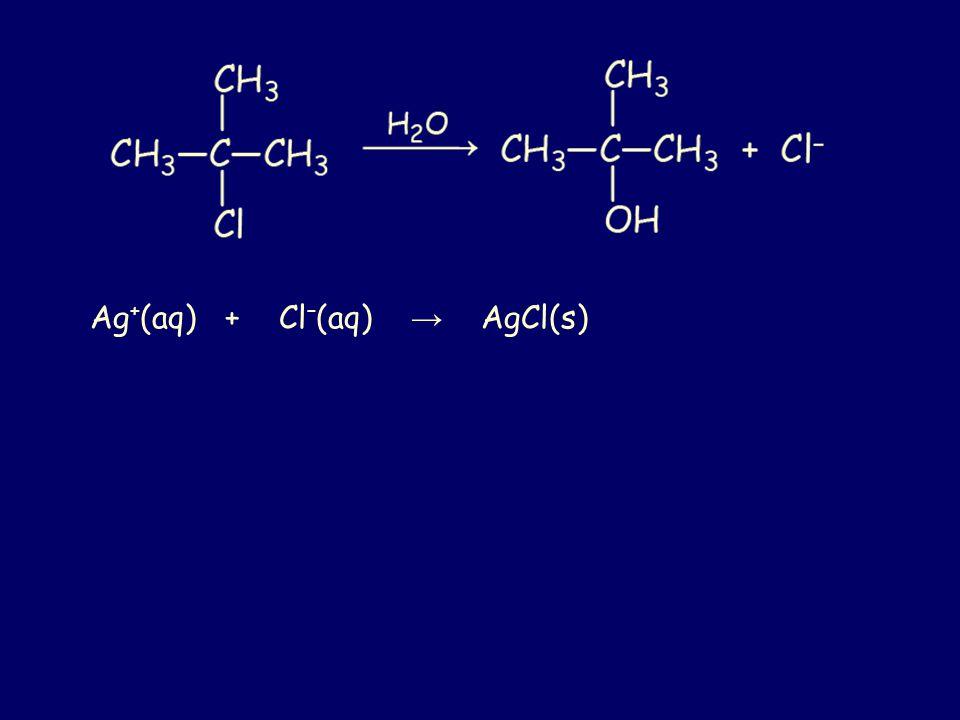 Ag+(aq) + Cl–(aq) → AgCl(s)