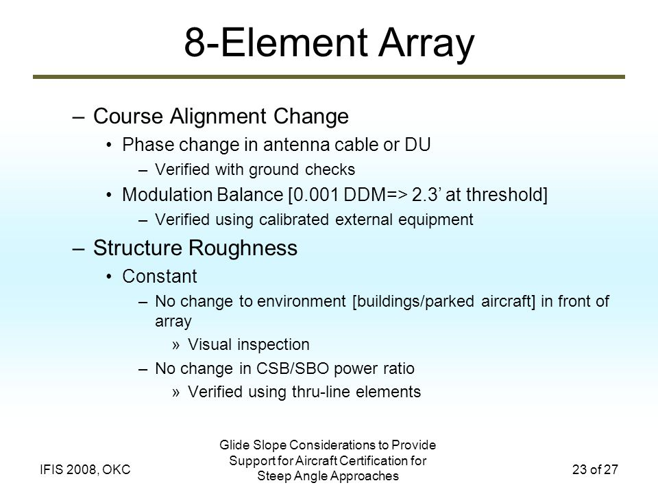 8-Element Array Course Alignment Change Structure Roughness