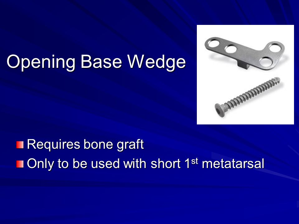 Opening Base Wedge Requires bone graft