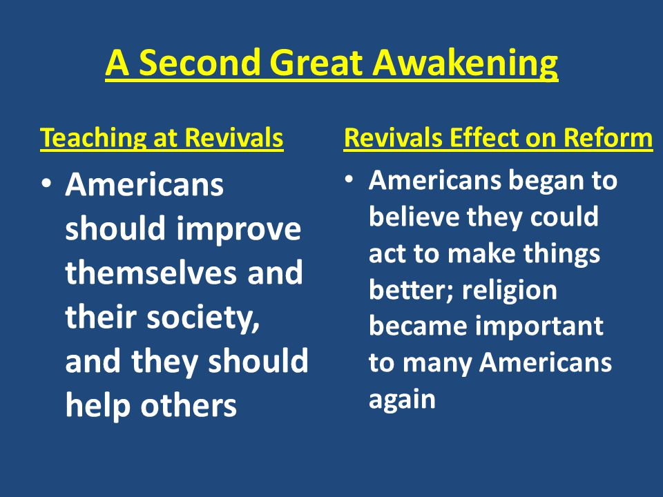 A Second Great Awakening