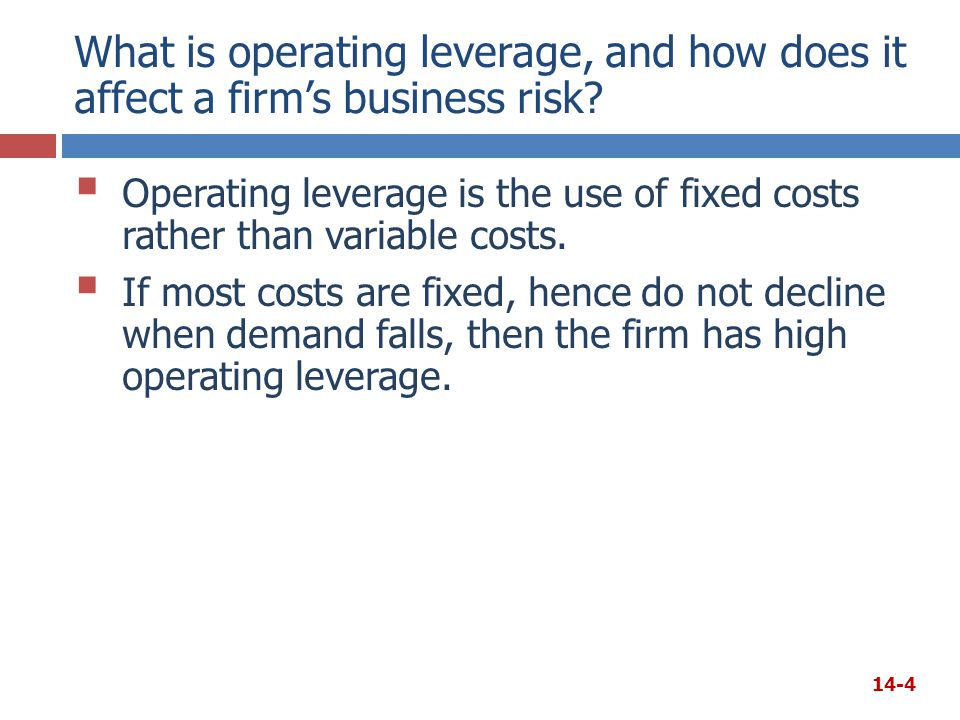 What is operating leverage, and how does it affect a firm's business risk