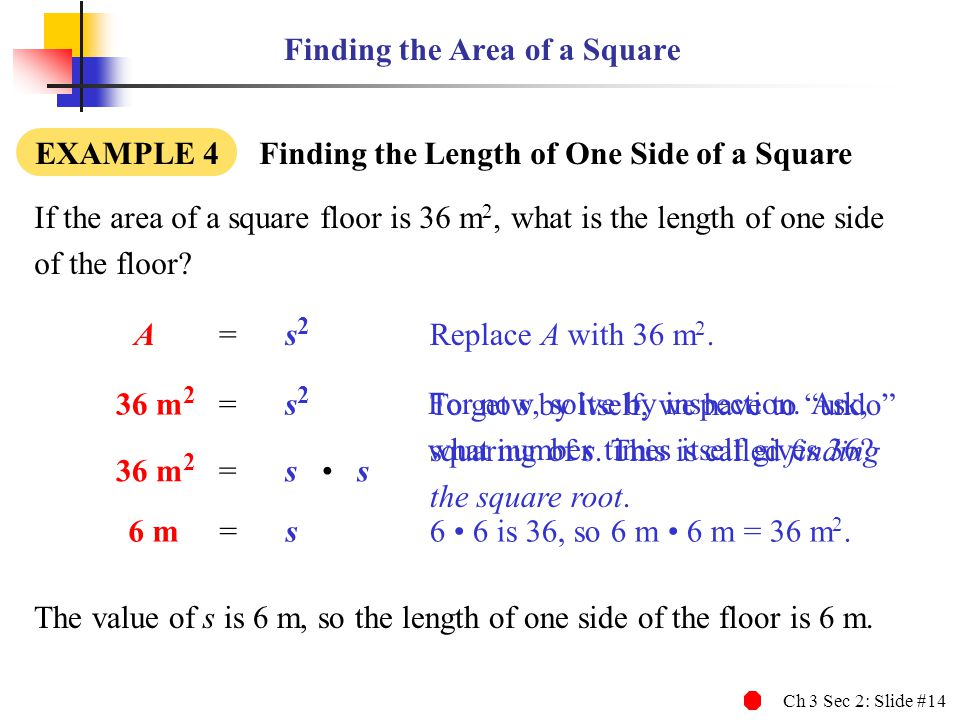 Finding the Area of a Square