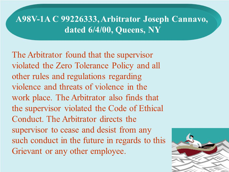 A98V-1A C 99226333, Arbitrator Joseph Cannavo,