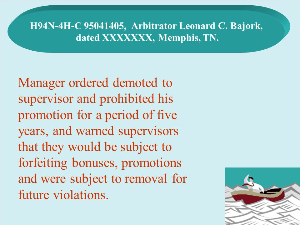 H94N-4H-C 95041405, Arbitrator Leonard C. Bajork,