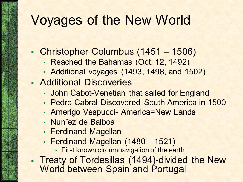 Voyages of the New World