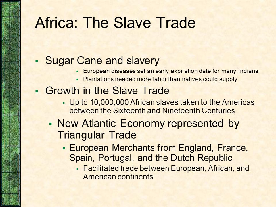 Africa: The Slave Trade