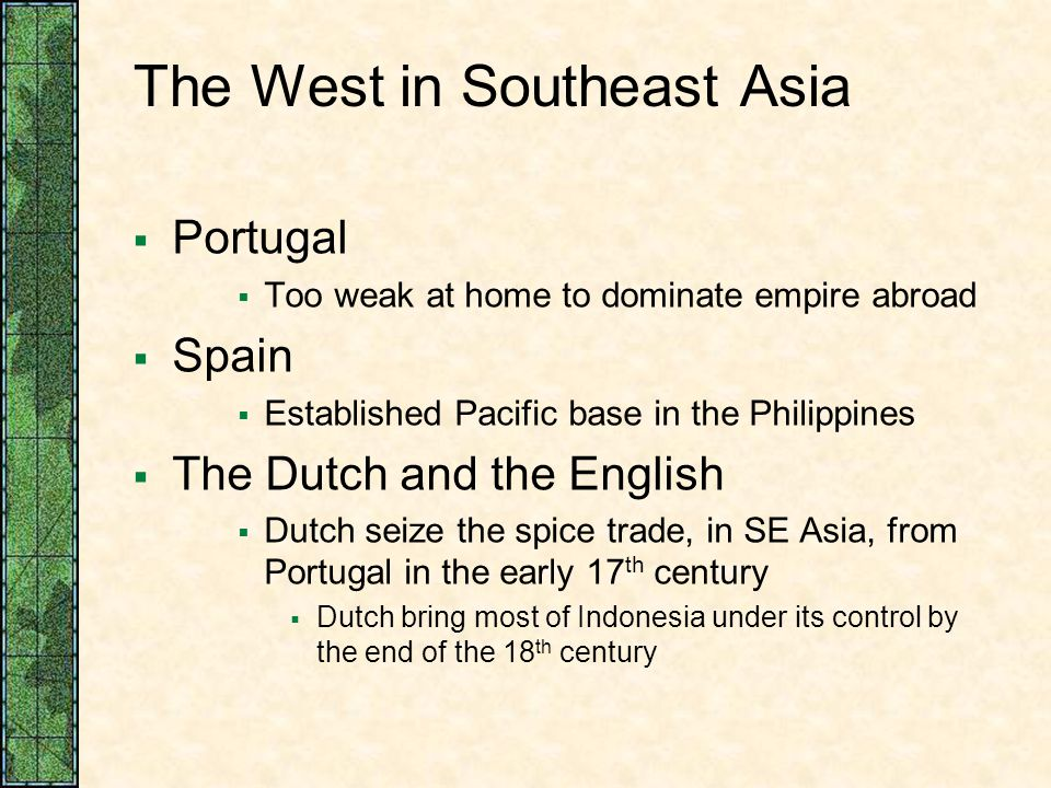 The West in Southeast Asia