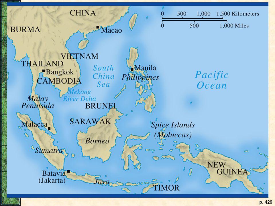 Southeast Asia, c. 1700. p. 429
