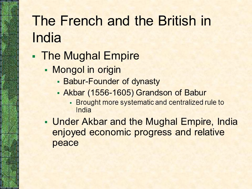 The French and the British in India