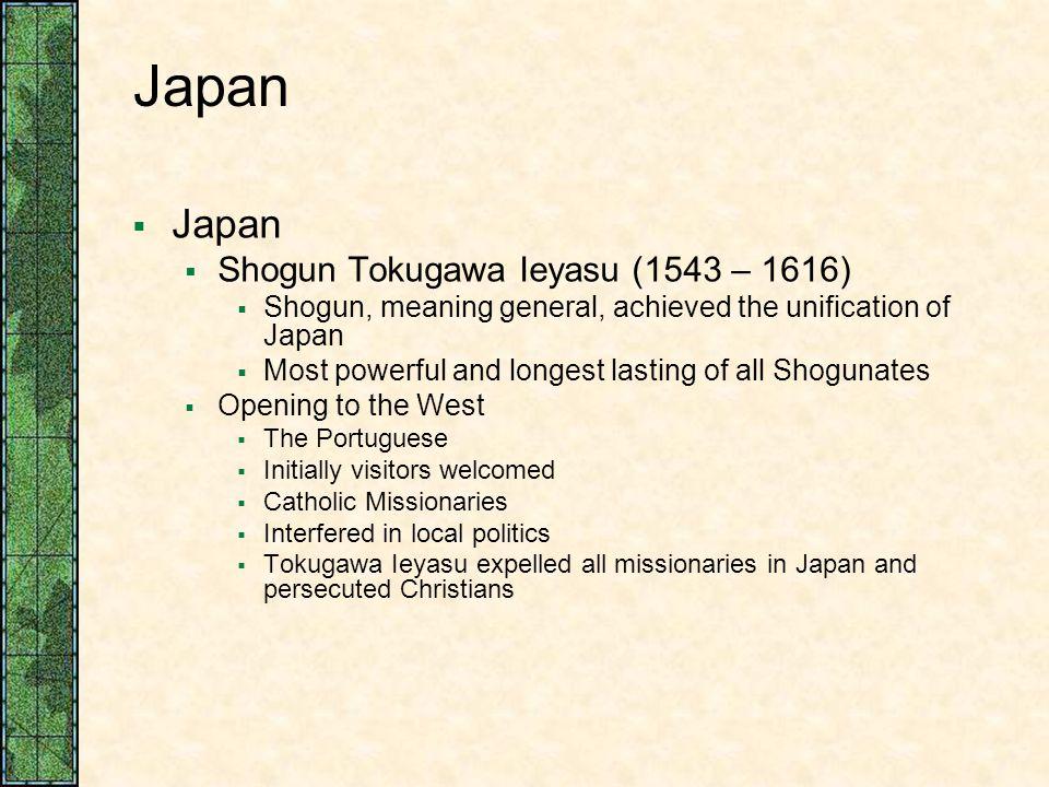 Japan Japan Shogun Tokugawa Ieyasu (1543 – 1616)