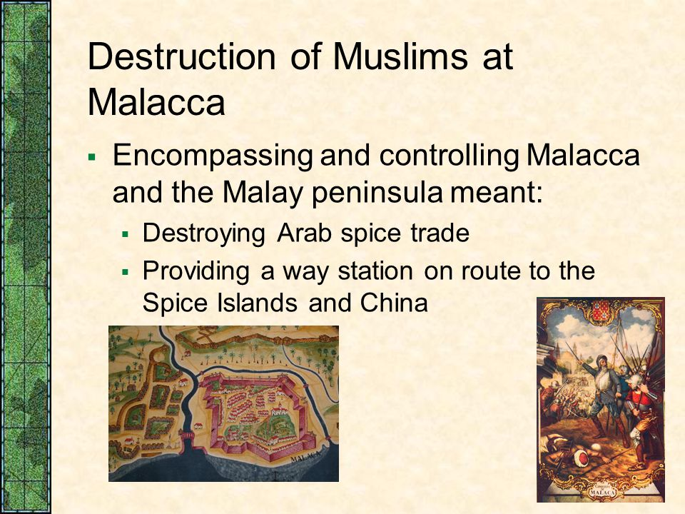 Destruction of Muslims at Malacca