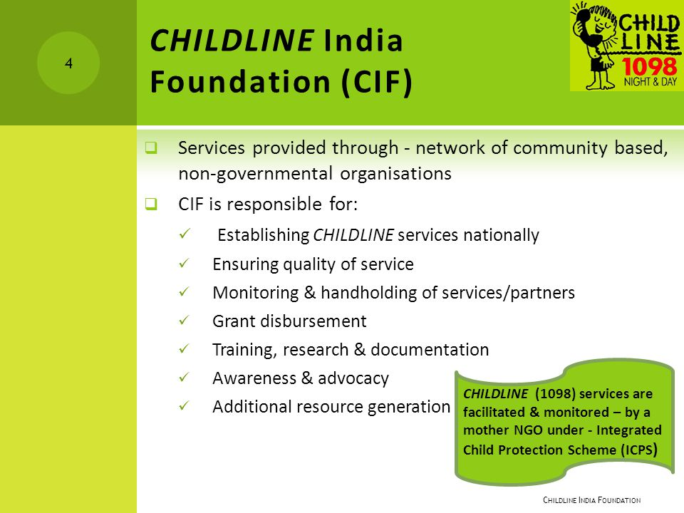 Childline India Foundation (CIF)