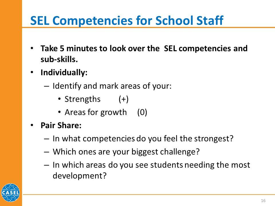 SEL Competencies for School Staff