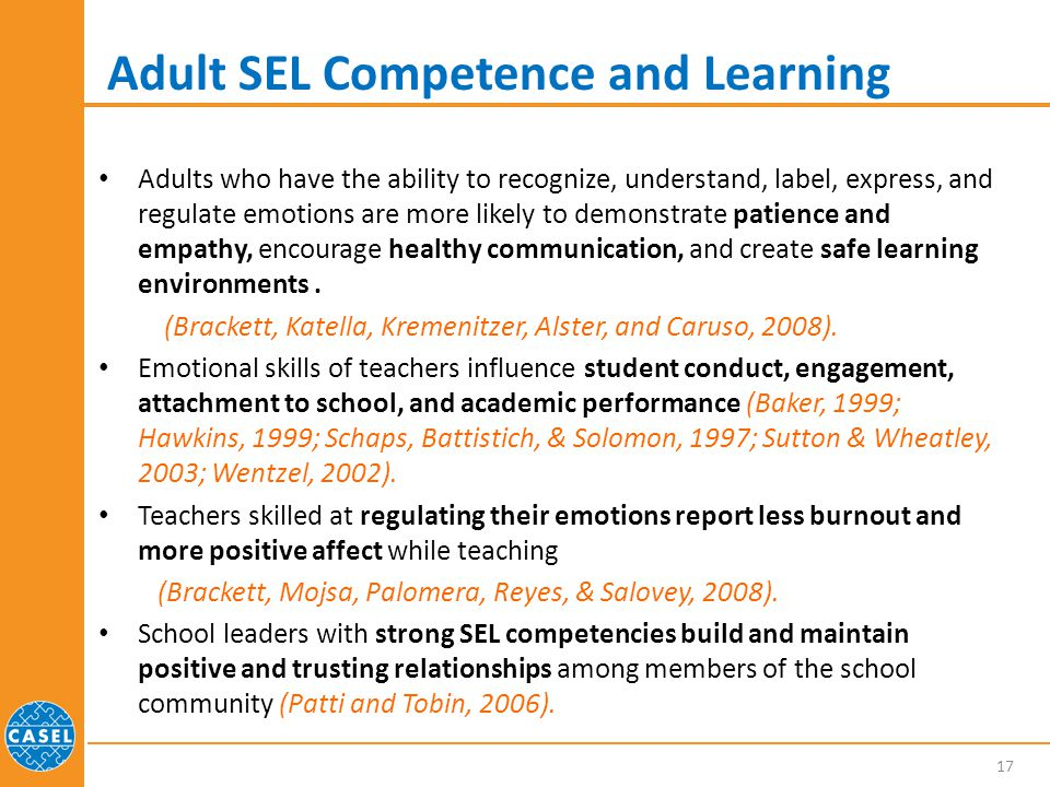 Adult SEL Competence and Learning
