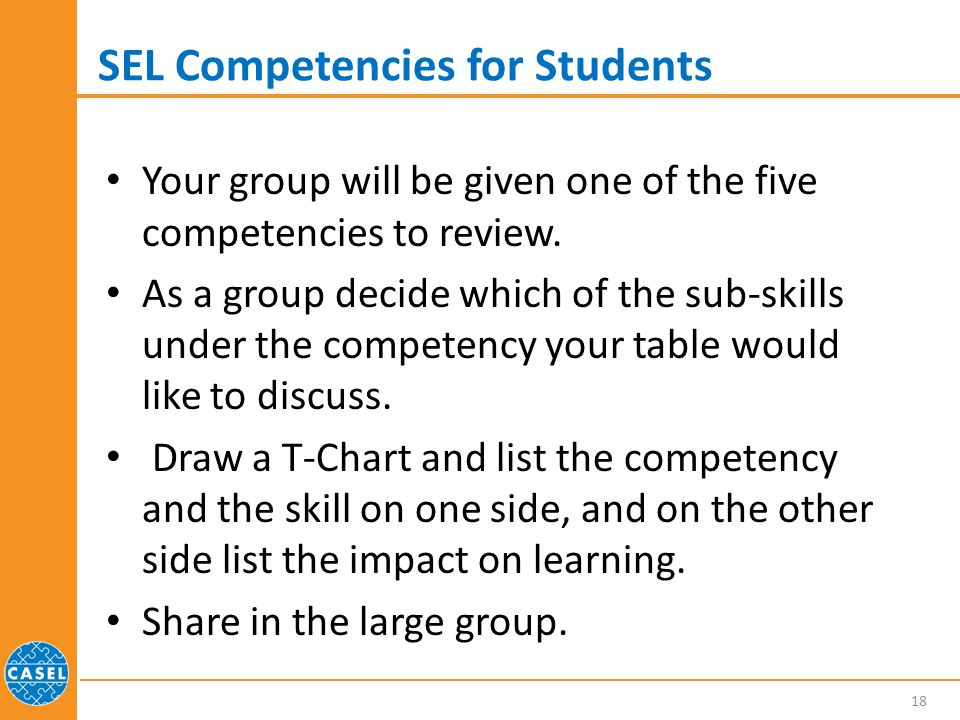 SEL Competencies for Students