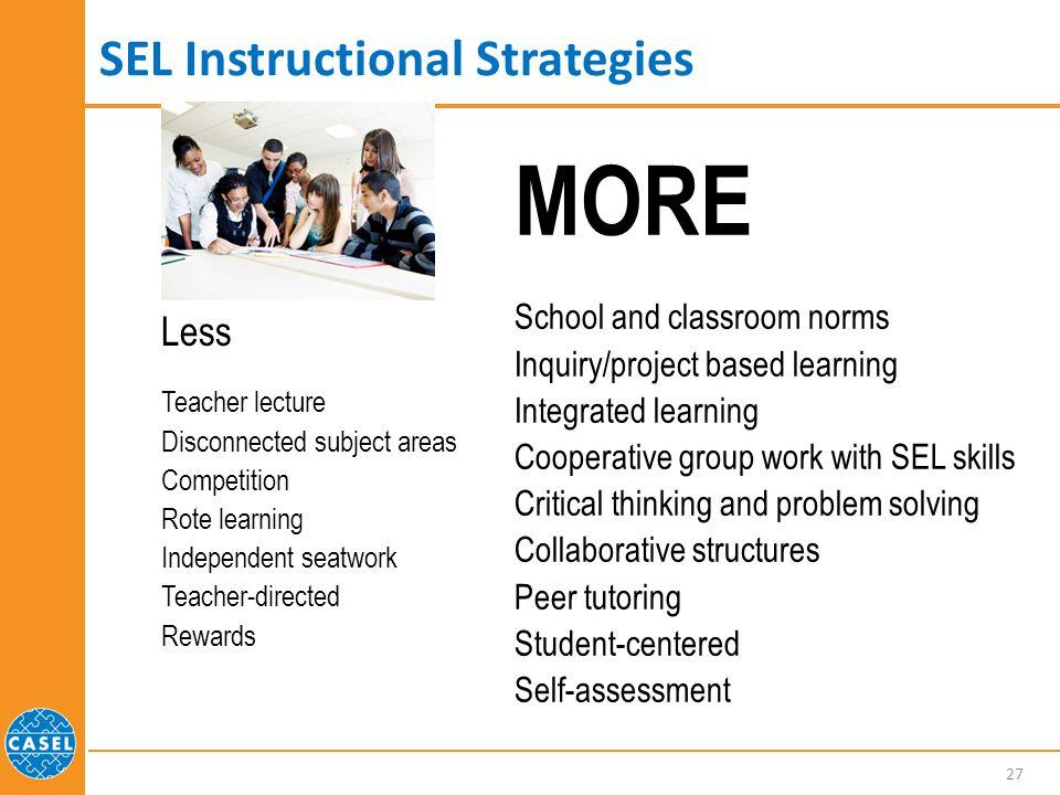 SEL Instructional Strategies