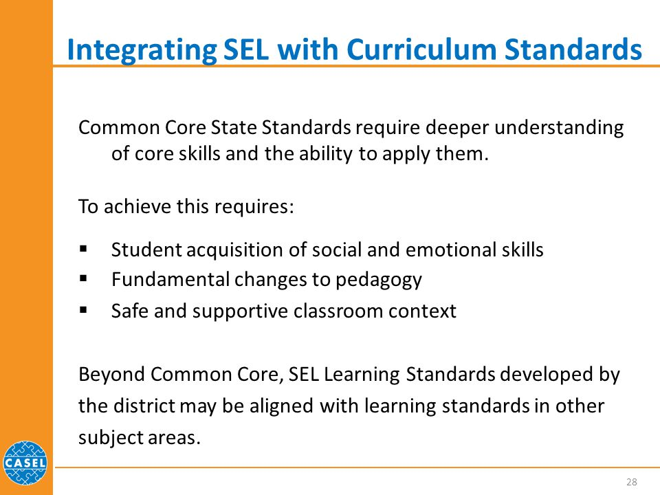 Integrating SEL with Curriculum Standards