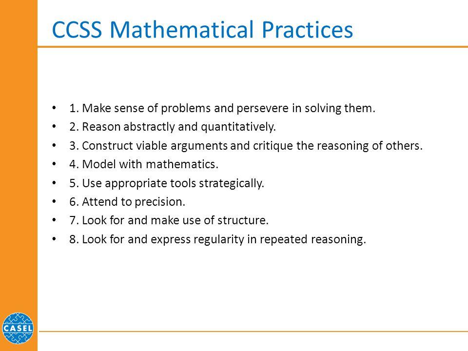 CCSS Mathematical Practices