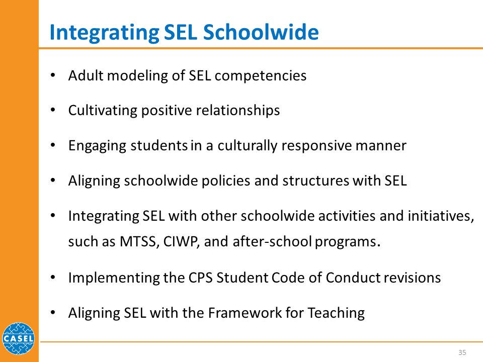 Integrating SEL Schoolwide