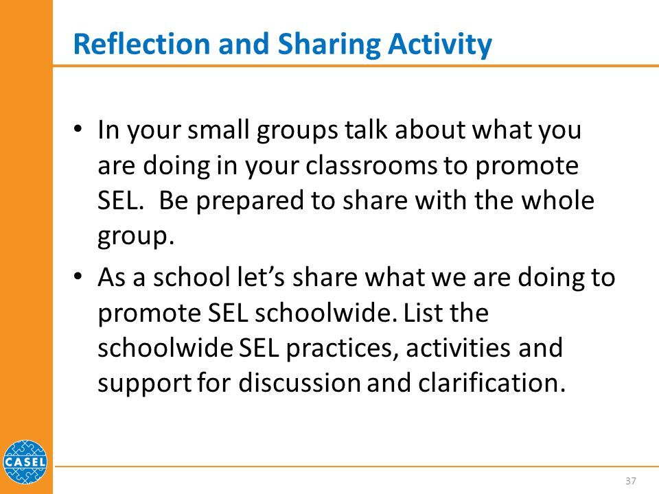 Reflection and Sharing Activity