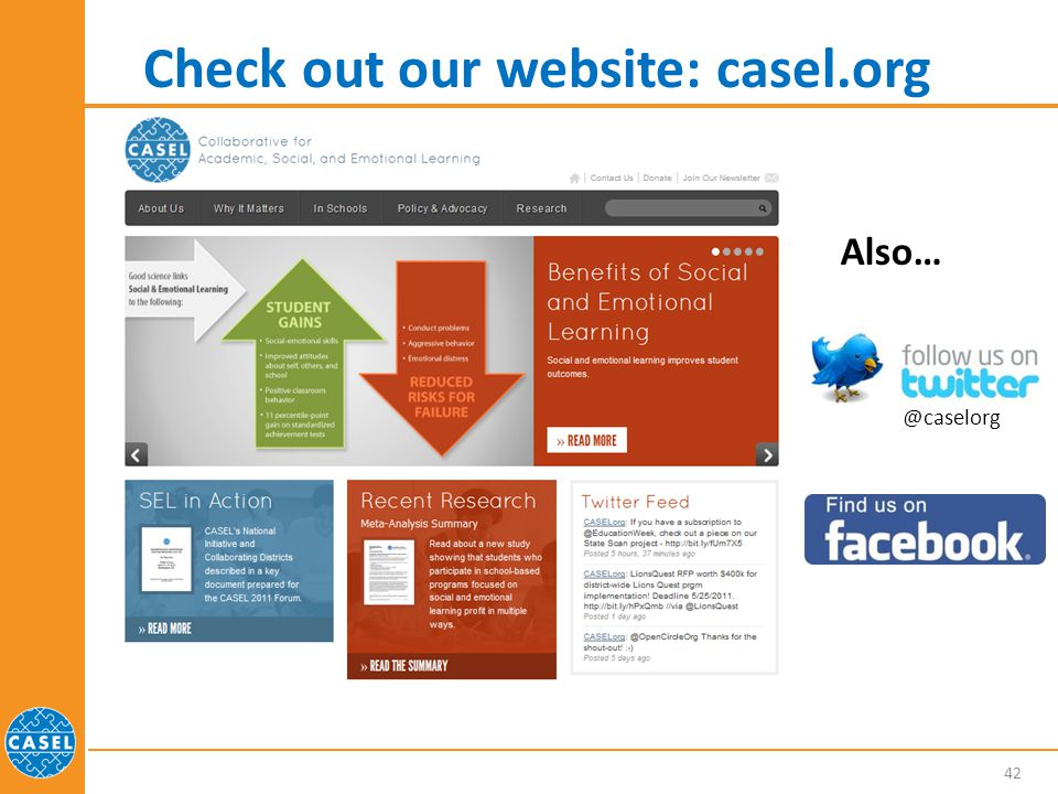 Check out our website: casel.org