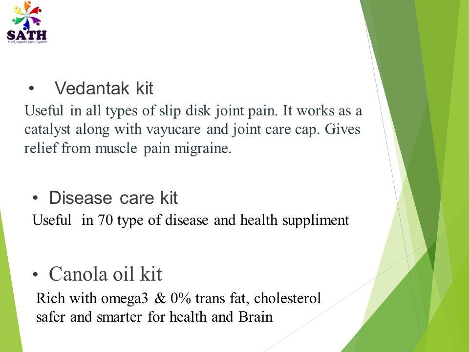 Vedantak kit Disease care kit Canola oil kit