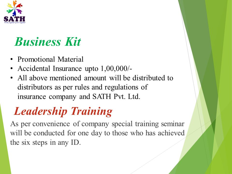 Business Kit Leadership Training Promotional Material