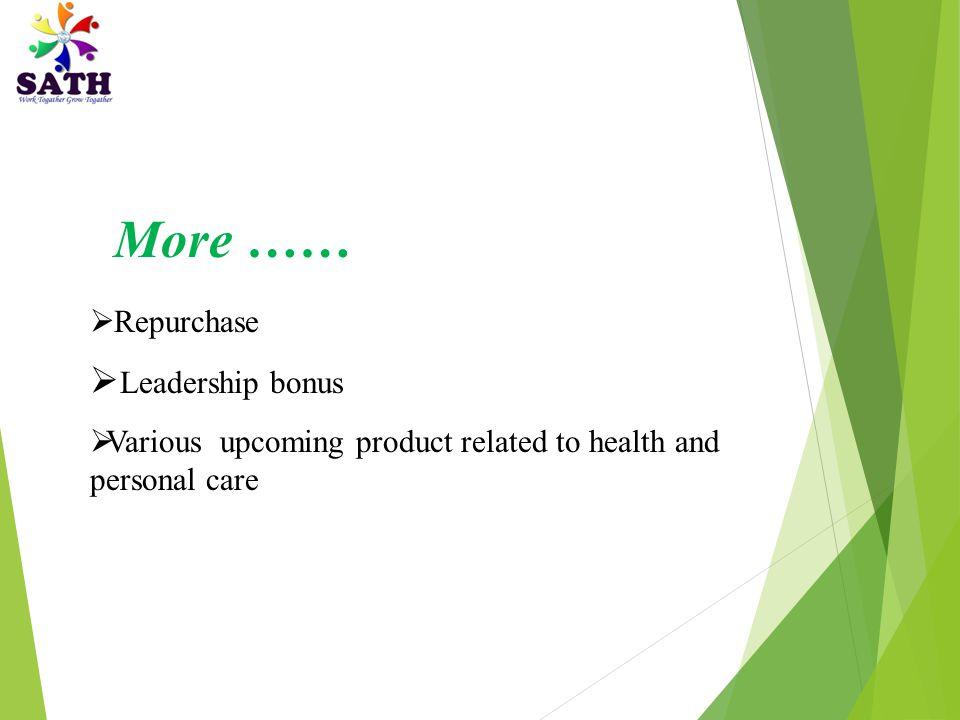 More …… Leadership bonus Repurchase