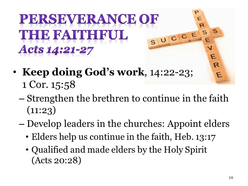 Perseverance of the Faithful Acts 14:21-27