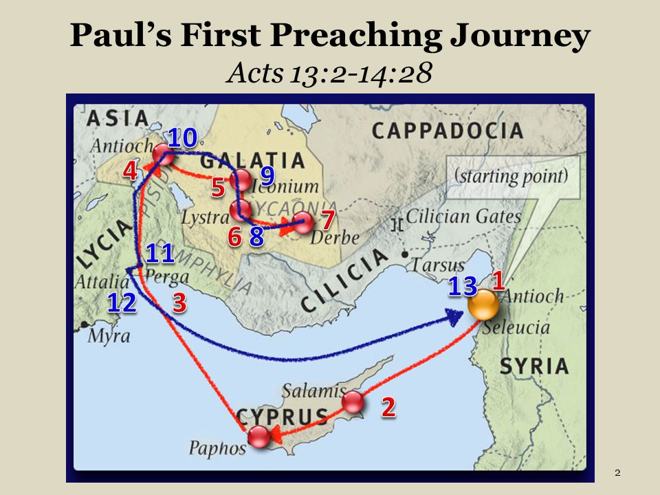 Paul's First Preaching Journey