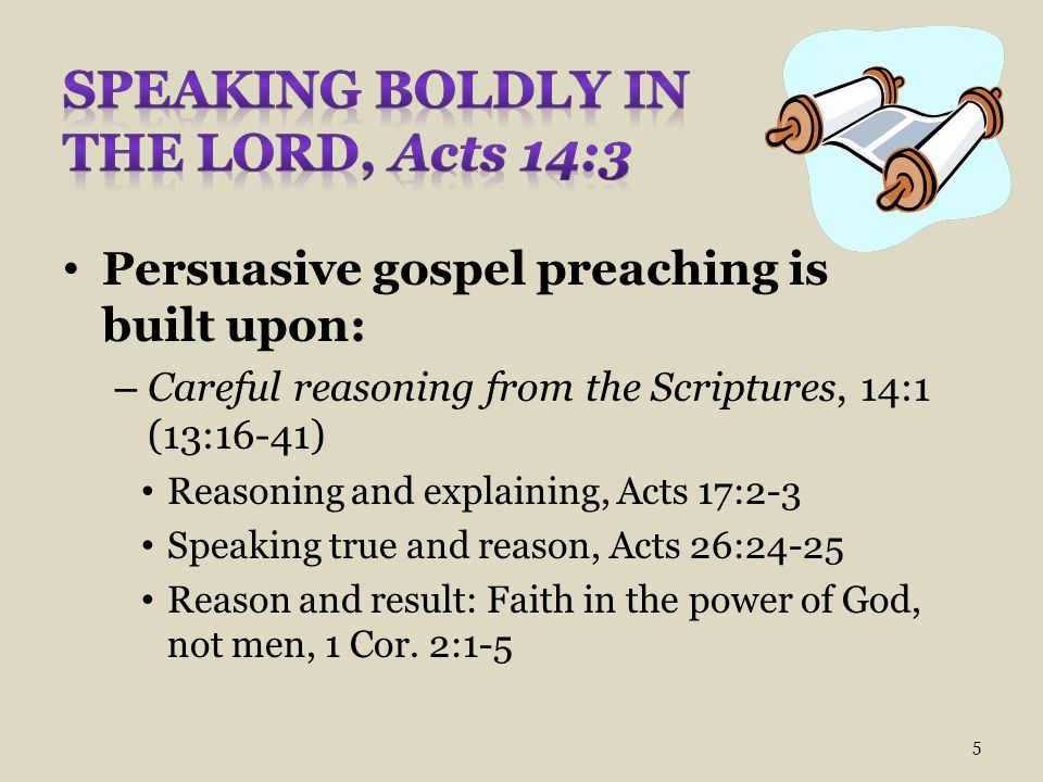 Speaking Boldly in the Lord, Acts 14:3