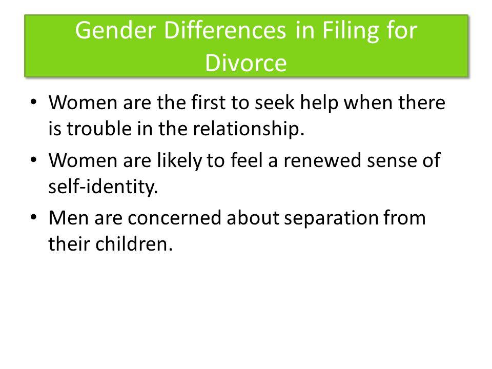 Gender Differences in Filing for Divorce