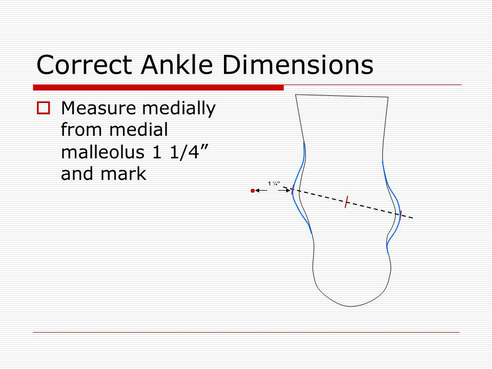 Correct Ankle Dimensions