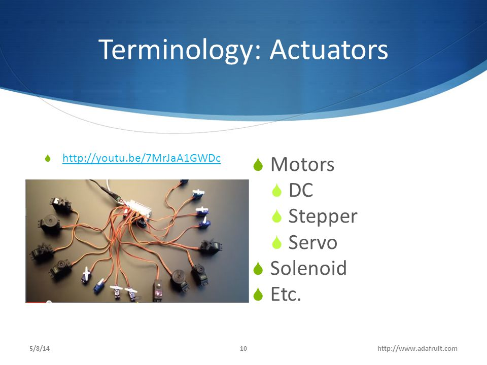 Terminology: Actuators