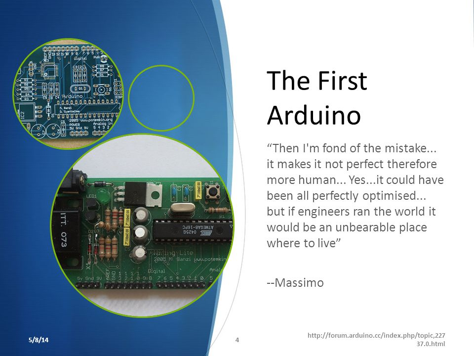 The First Arduino
