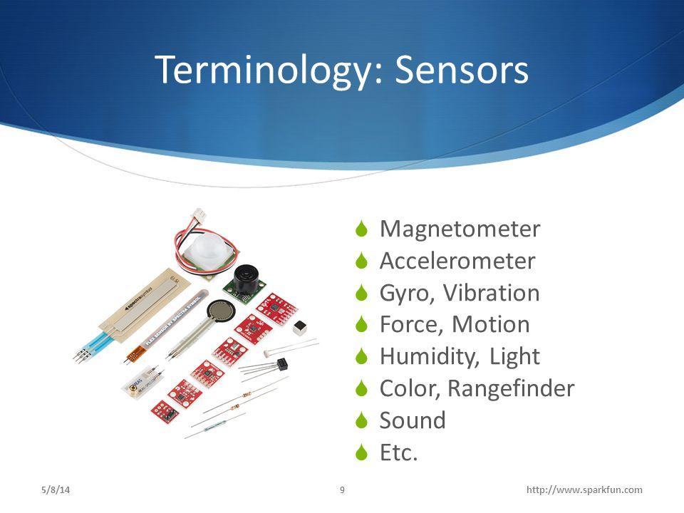 Terminology: Sensors Magnetometer Accelerometer Gyro, Vibration