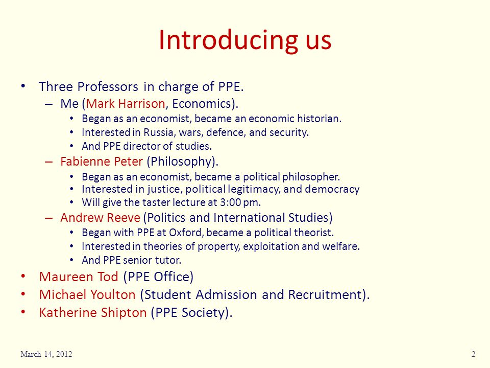 Introducing us Three Professors in charge of PPE.