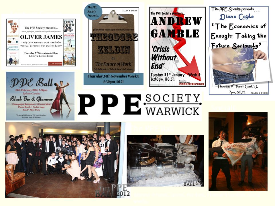 Lecture Series Socials The PPE Ball