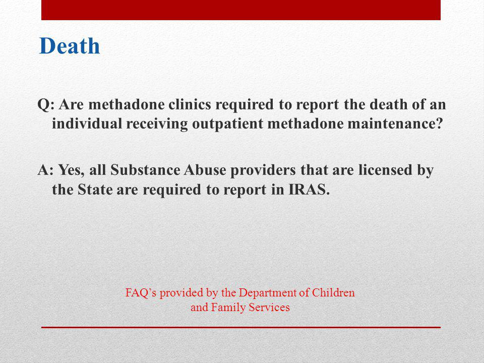 FAQ's provided by the Department of Children and Family Services