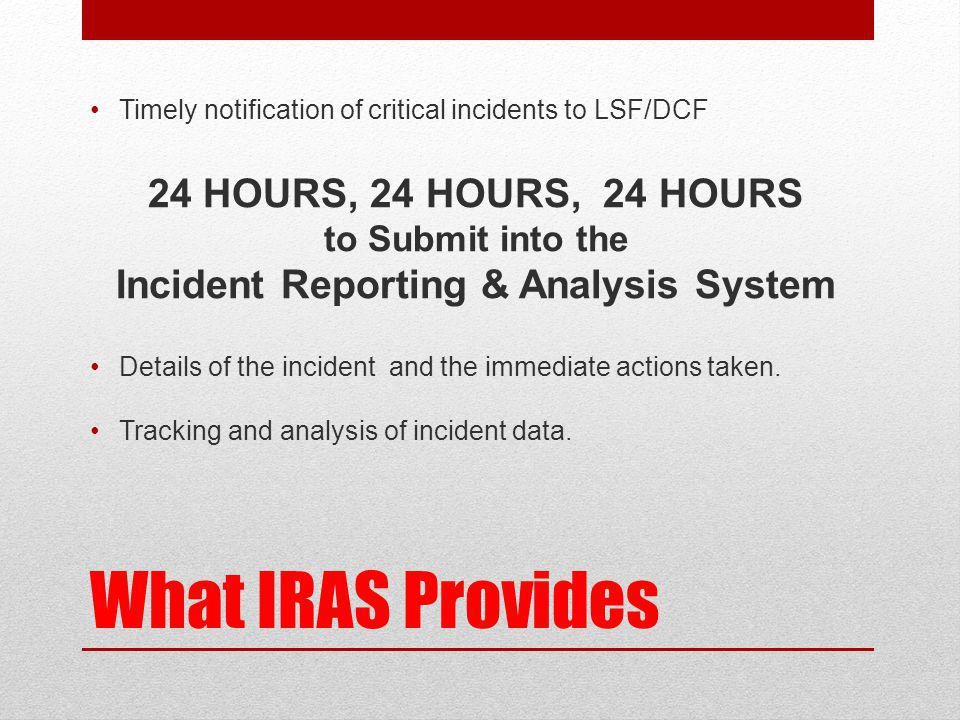 Incident Reporting & Analysis System