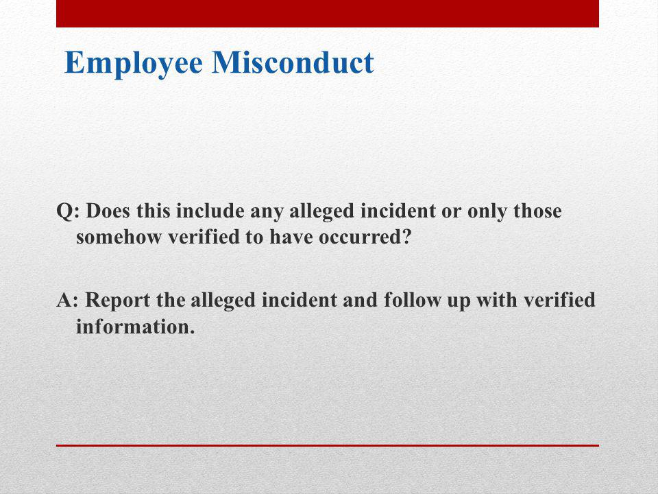 Employee Misconduct