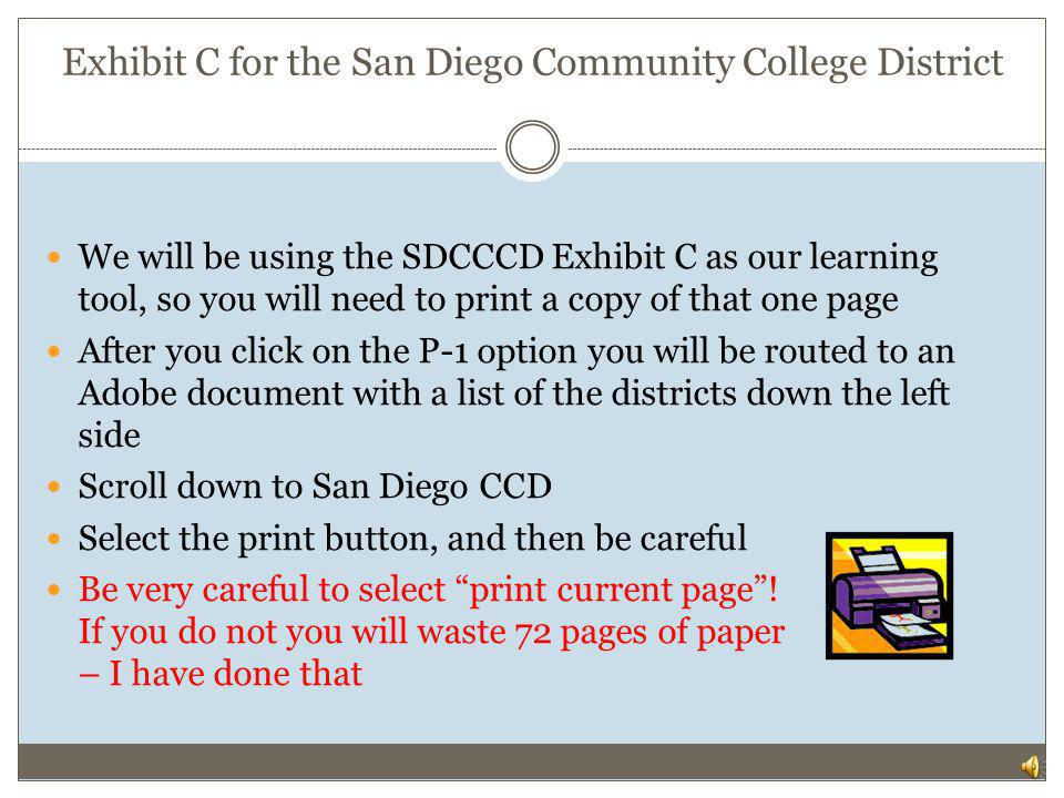 Exhibit C for the San Diego Community College District