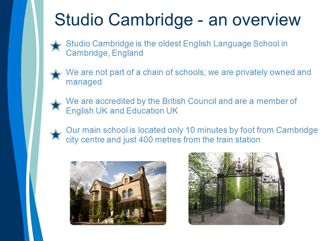Studio Cambridge - an overview