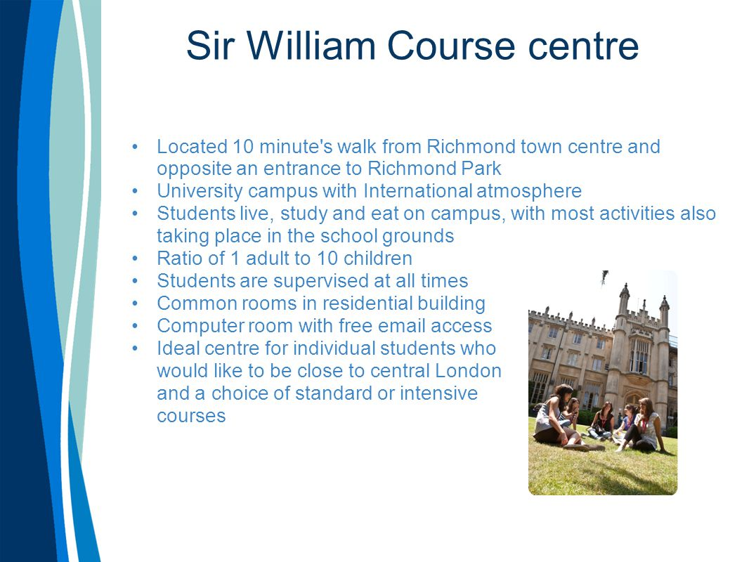 Sir William Course centre