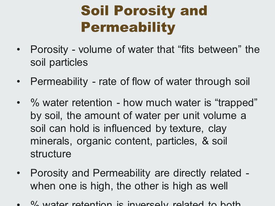 Soil Porosity and Permeability